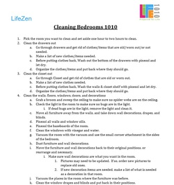 photo regarding Printable Tip Chart referred to as LifeZen Suggestion of the 7 days - Printable Bed room Cleansing